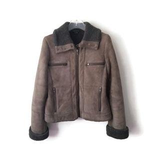 Theory 100% shearling lamb jacket sz S